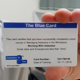 Working with Asbestos Training Workshop Course Card Qualification